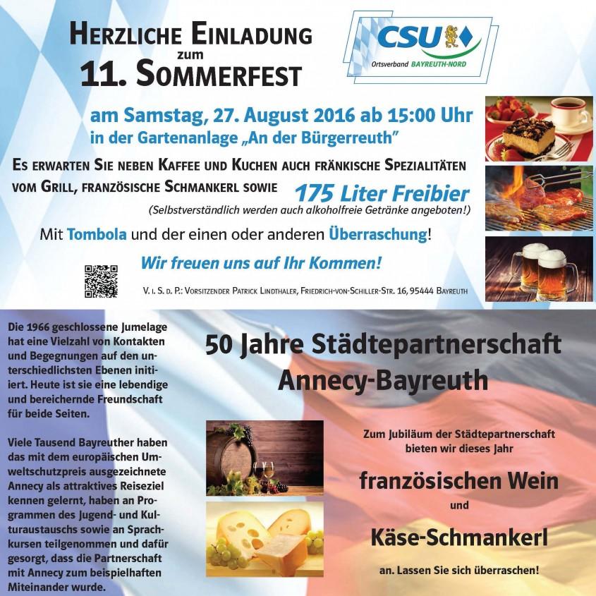 Sommerfest 2016-digitale Einladung